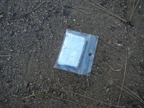 Eight 4g esbit cubes, aluminum foil and mini ziploc = 33 grams