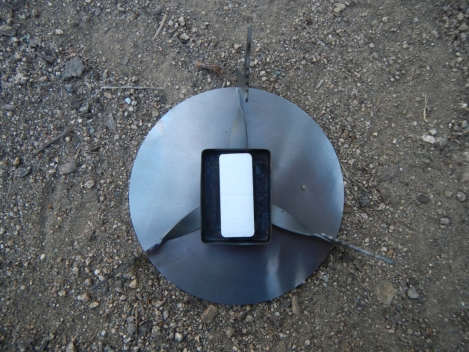 4g cube in the Ti wing stove.